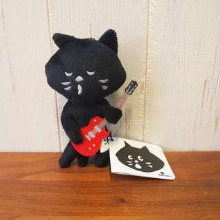 絕版日本Ne-net nya貓貓毛毛公仔玩具掛飾結他