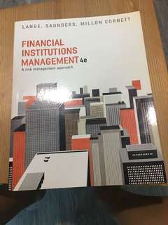 Used Kaplan Murdoch Financial Institution Management textbook 4e