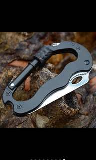 Self defense outdoor multifunction climbing carabiner