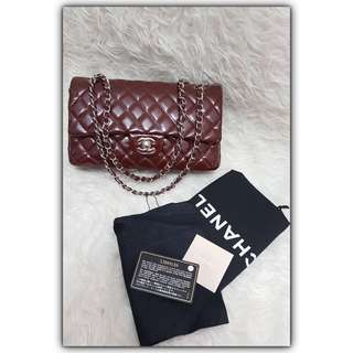 Chanel Klasik Medium Marun Patent SHW Double Flap #11 #chanelbag#chanelklasik#chanelmediumflap#authentic💯#secondbranded#prelovedbagbranded#instalike