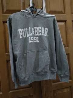 Pull and Bear Grey Sweater Hoodie