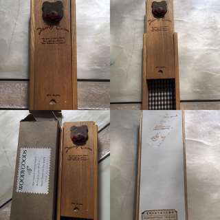 Tempat pensil kayu made in japan