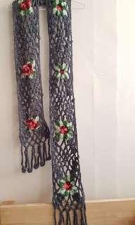 粗編織長圍巾(質感灰)