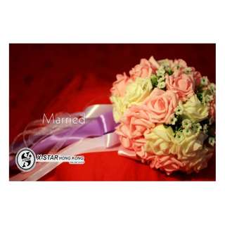 S138532-S138533 婚禮用品新娘满天星仿真花球 粉色/香檳色 Simulation Flower Ball