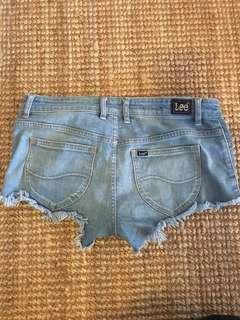 Lee denim cheeky shorts