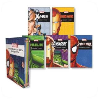 Scholastic Marvel Origin Chapter Book Collection Of 5 Books