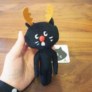 絕版日本Ne-net nya貓貓毛毛公仔玩具掛飾聖誕鹿