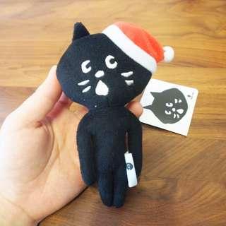 絕版日本Ne-net nya貓貓毛毛公仔玩具掛飾聖誕老人