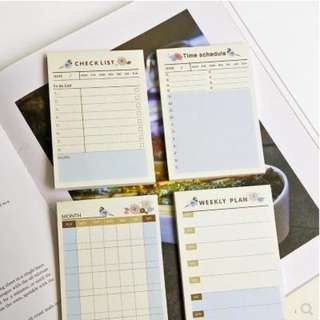 🚚 4 pads x Planner (post it) Memo Tag