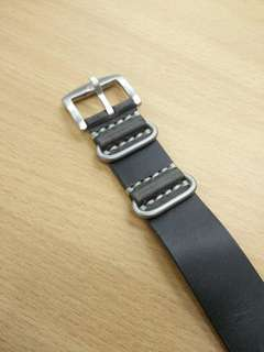 Brand new leather strap (hand made nato style)