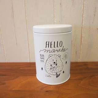 日本Hello Marche白熊鐵收納盒罐茶葉