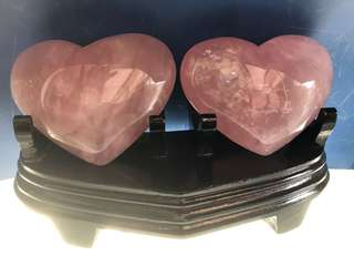 Fen jing (heart shape with wooden stand)