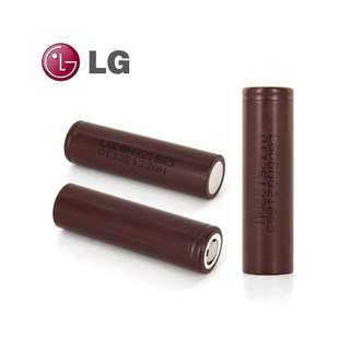 "LG18650 HG2 ""Chocolate Bar"" High-Drain 20A/35A High Discharge 3.7V 3000mAh Rechargeable Lithium Battery (Flat Top)"