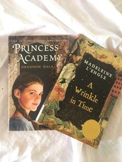 A Wrinkle in Time and Princess Academy Books