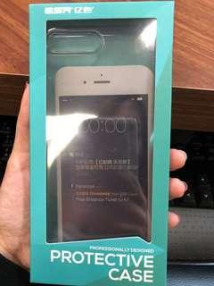 Iphone 7/8 plus 黑色半透明電話殻case