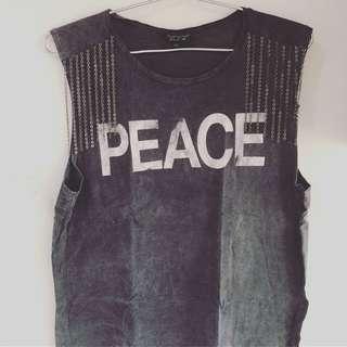 "Topshop ""Peace"" Tank"