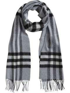 New Burberry print scarf black and white