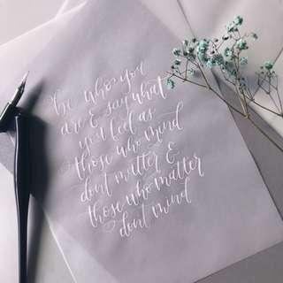 🚚 customizable modern calligraphy