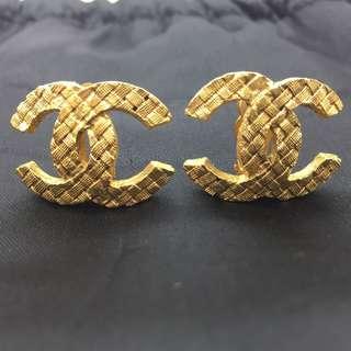 Chanel CC logo 復古耳環 - Chanel CC logo clip pias