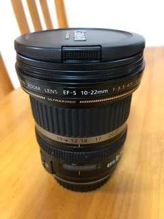 Canon lens 10-22mm