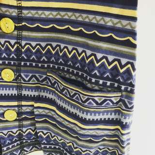 Sleeveless Tribal Outer