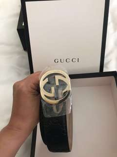 Gucci signature leather belt ori new