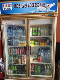 Commercial display 2 Heater Glass Doors Chiller