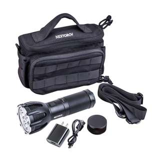 NexTorch Saint Torch 30 XHP-50B 5,600 Lumens 480 Meters USB Rechargeable Searchlight with Built In Battery Pack and Power Bank Function