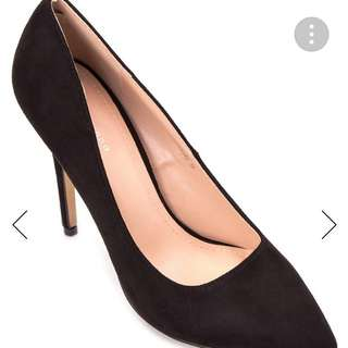 PRIMADONNA Black Velvet Heels