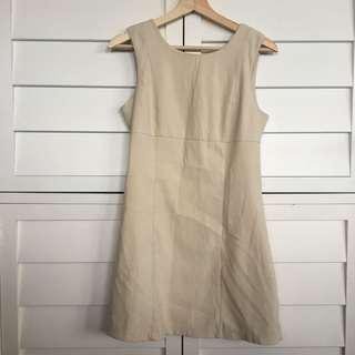 Women's nude suede material dress