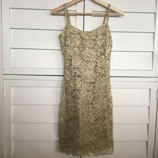 Beautiful gold cocktail dress