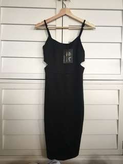Women's black cut out dress evening wear