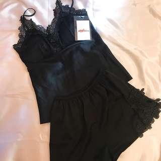👗Mysterious Black Pajama