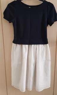 Navy shiffon Dress