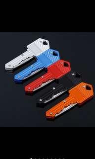 Folding keychain portable pocket knife