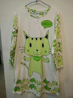 🚚 貓咪造型連身睡衣