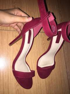 F21 Faux Suede Ankle-Strap Heels