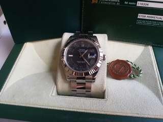 (Sold)ROLEX 116334 DayJust 黑面羅馬字亂碼卡