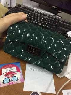 Mini Jelly Green sling bag