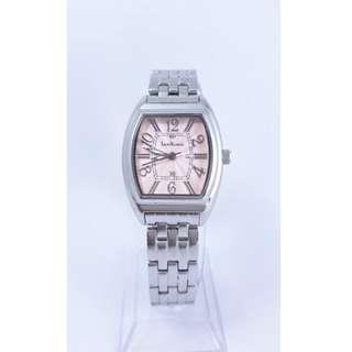 【Jessica潔西卡小舖】時尚設計品牌錶Legra Valencia粉色阿拉伯數字面剛帶腕錶