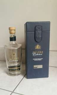 collection Glenlivet whisky bottle with case