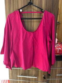 Zara ribbon Top