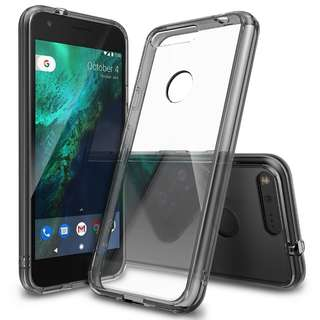 866. Google Pixel Case, Ringke [FUSION] Crystal Clear PC Back TPU Bumper [Drop Protection/Shock Absorption Technology] Raised Bezels Protective Cover For Google Pixel 2016 - Smoke Black