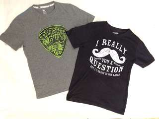 Lot of 2 shirts for boys 8-10y