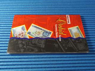 Singapore Orchid Series $25, $100 & $1000 Note Replica Banknote Currency 3-in-1 CashCard with Folder