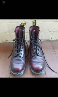 Doc martens red size 8