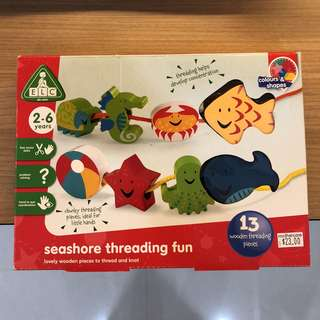 ELC Sea Creatures Wooden Threading Toy