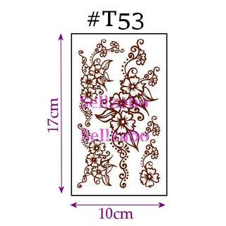 #T53 Fake Temporary Body Tattoo Stickers Washable Wash Off Print Sellzabo Patterns Designs Tatoo Tatto Tattoo Accessories Brown Colour Tribes Tribal Ethnic Cultural Traditional Henna