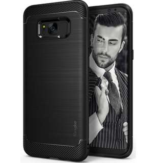 867. Ringke Original Onyx Series Durable Anti-Slip Defensive Case for Samsung Galaxy S8 Plus (Black)