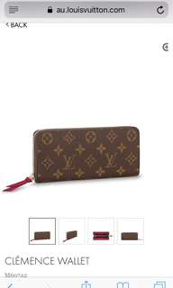 Authentic Louis Vuitton Cléménce Wallet